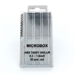 Set de 20 minibrocas de precision 0.3-1.6MM