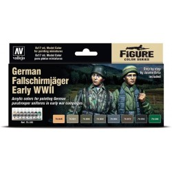 Model Color SET: German Fallschimjager early WWII